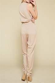 Chloah Taupe Satin Jumpsuit - Side cropped