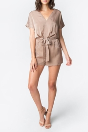 Sugar Lips Taupe Satin Romper - Product Mini Image