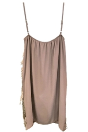 Dixie Taupe Sequin Feather - Front full body