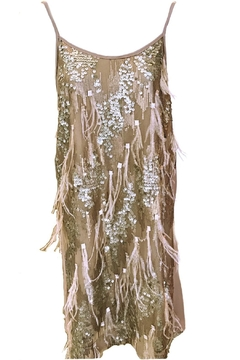 Dixie Taupe Sequin Feather - Product List Image