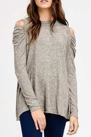 Cherish Taupe Shirring Top - Product Mini Image