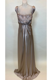 Dominique TAUPE SILK & LACE GOWN - Product Mini Image