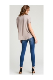 Polly & Esther Taupe V-Neck Top - Front full body