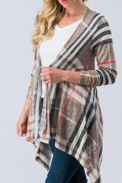 Trend:notes Taupe Waterfall Cardigan - Product List Image