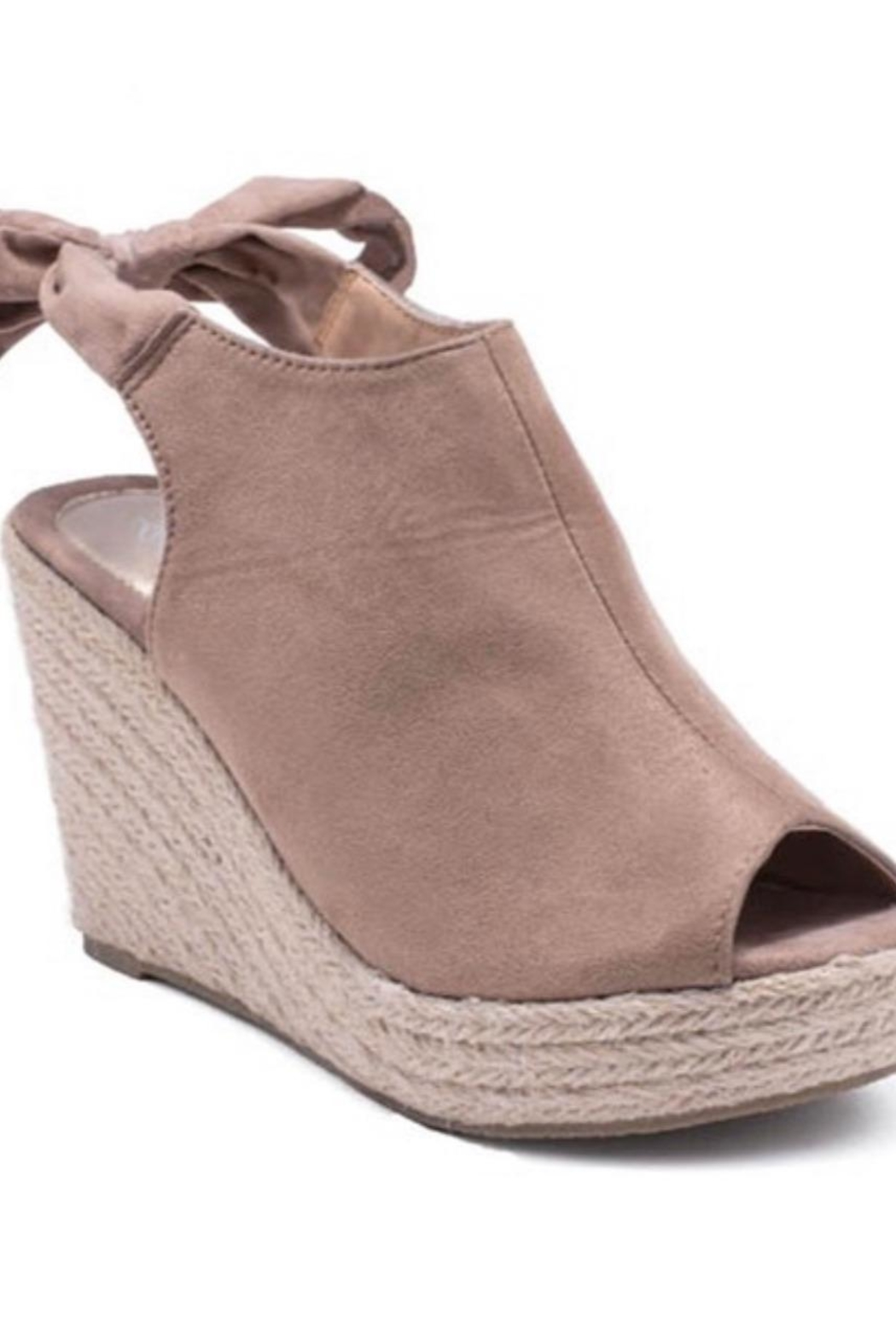 3B Shoes Taupe Wedge Sandals - Main Image