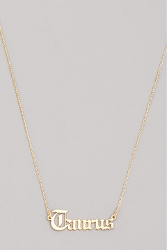 R+D Hipster Emporium  Taurus Necklace - Alternate List Image