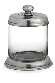 The Birds Nest TAVOLA GLASS CANISTER - SMALL - Front cropped