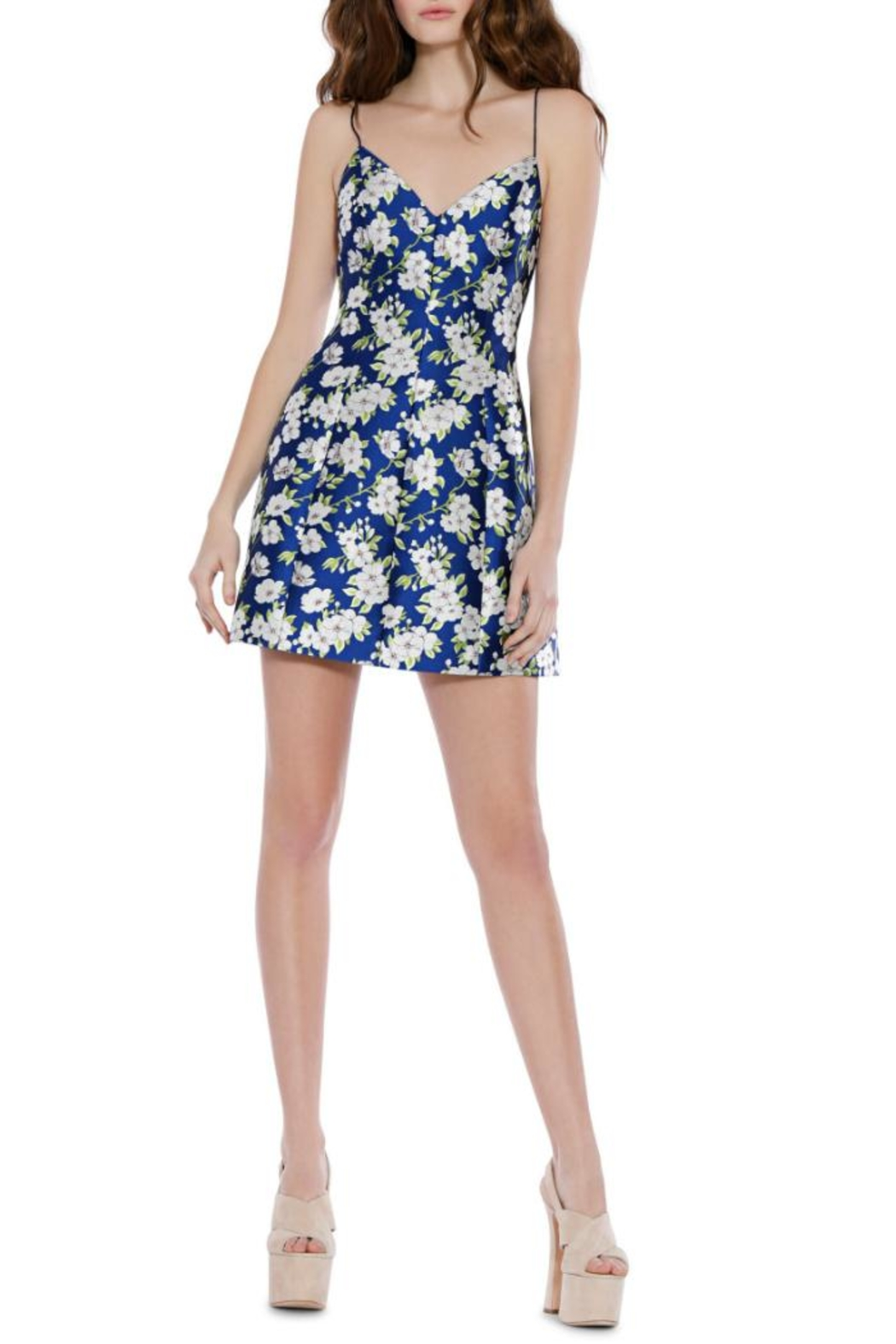 Alice + Olivia Tayla Structured Dress - Front Cropped Image