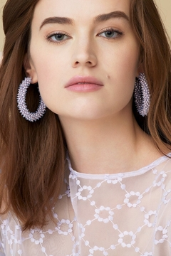 Mignonne Gavigan Taylor Beaded Hoop Earrings - Product List Image
