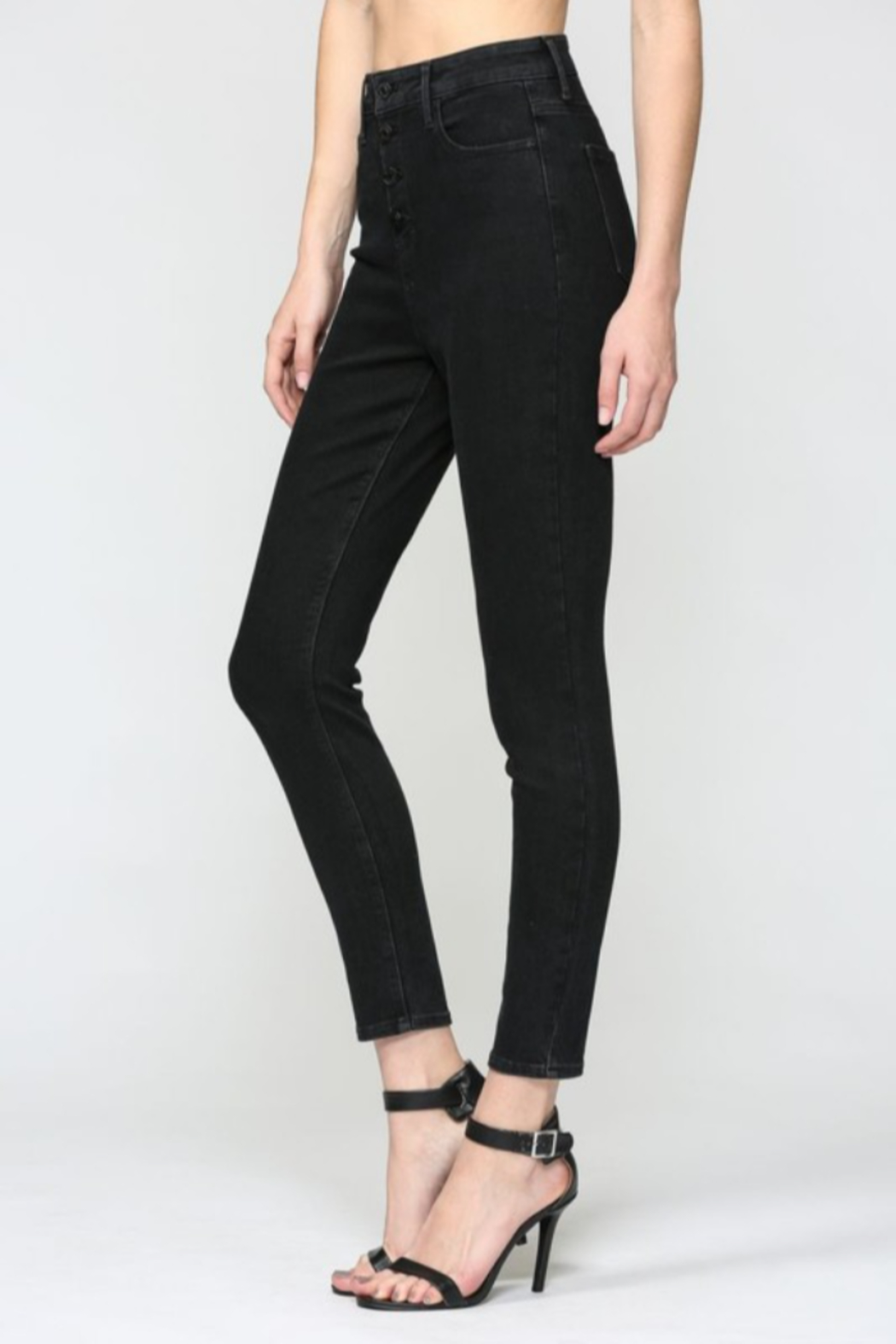 Hidden Jeans Taylor Exposed Buttons Skinny - Front Full Image