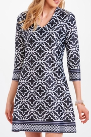 Charlie Paige Taylor Geometric-Print Shift - Product Mini Image