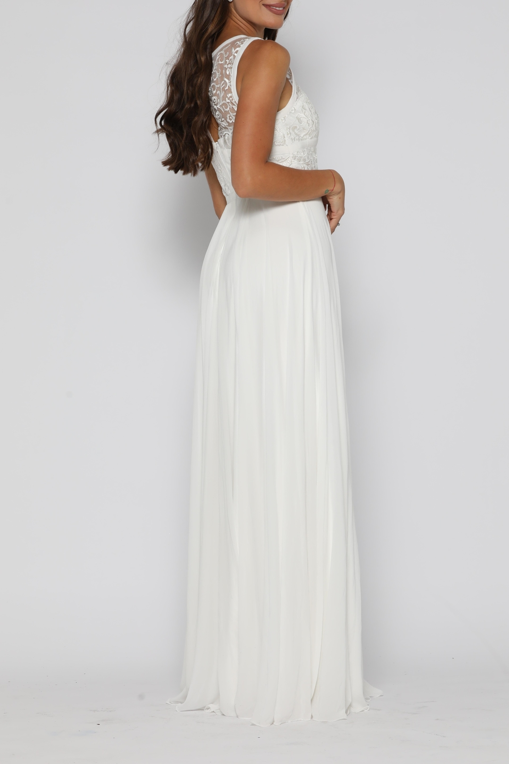Jadore Taylor Gown Ivory - Side Cropped Image