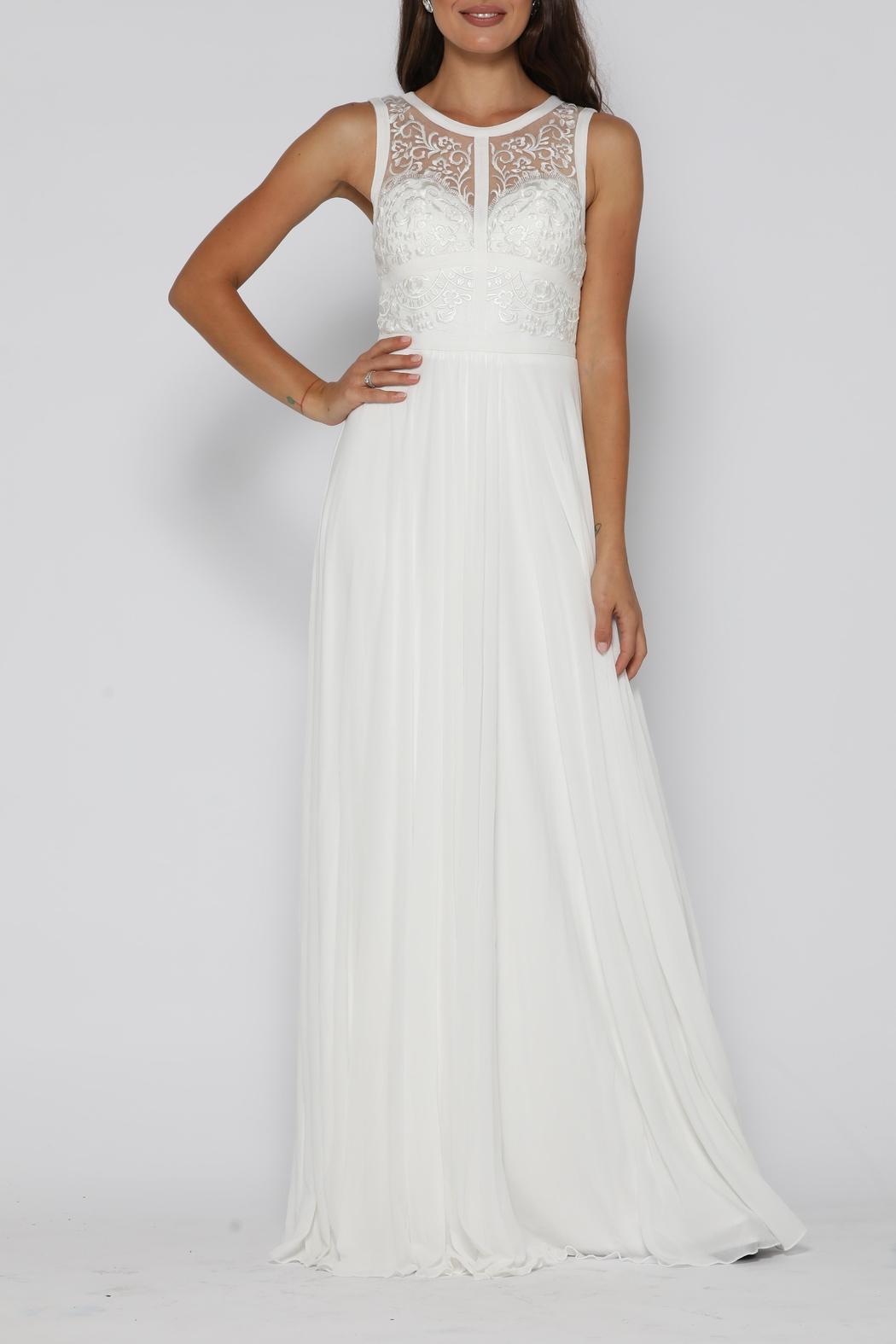 Jadore Taylor Gown Ivory - Front Full Image