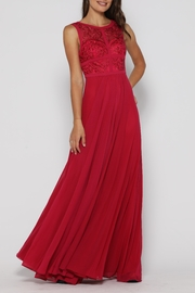 Jadore Taylor Gown Raspberry - Front full body