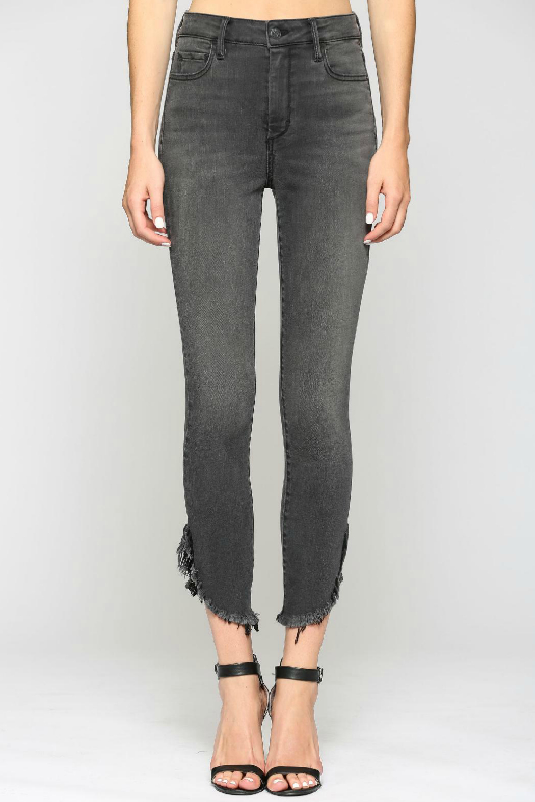 Hidden Jeans TAYLOR GREY HIGH RISE FRAYED SKINNY - Main Image