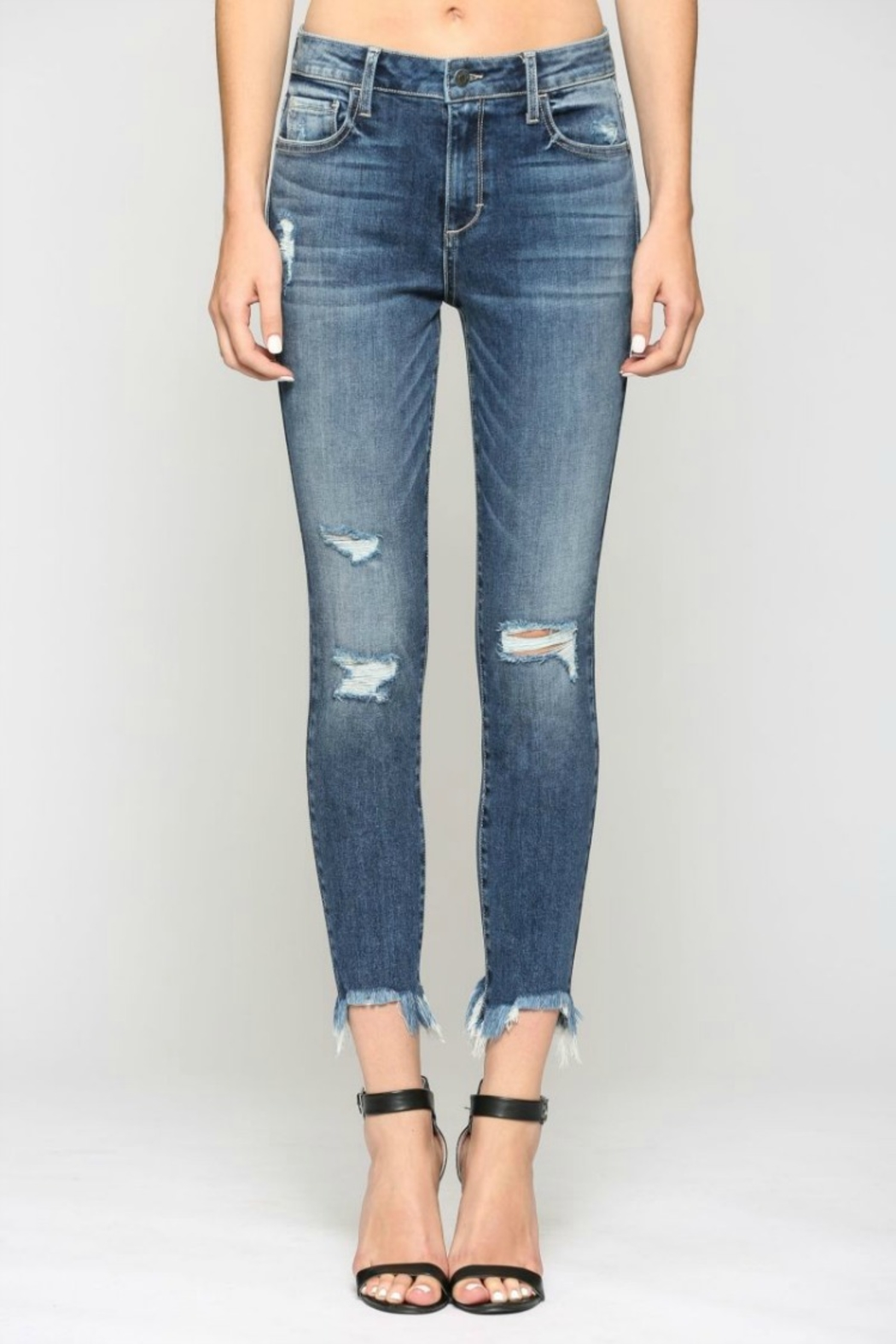 Hidden Jeans Taylor H/R with Fray Hem - Front Full Image