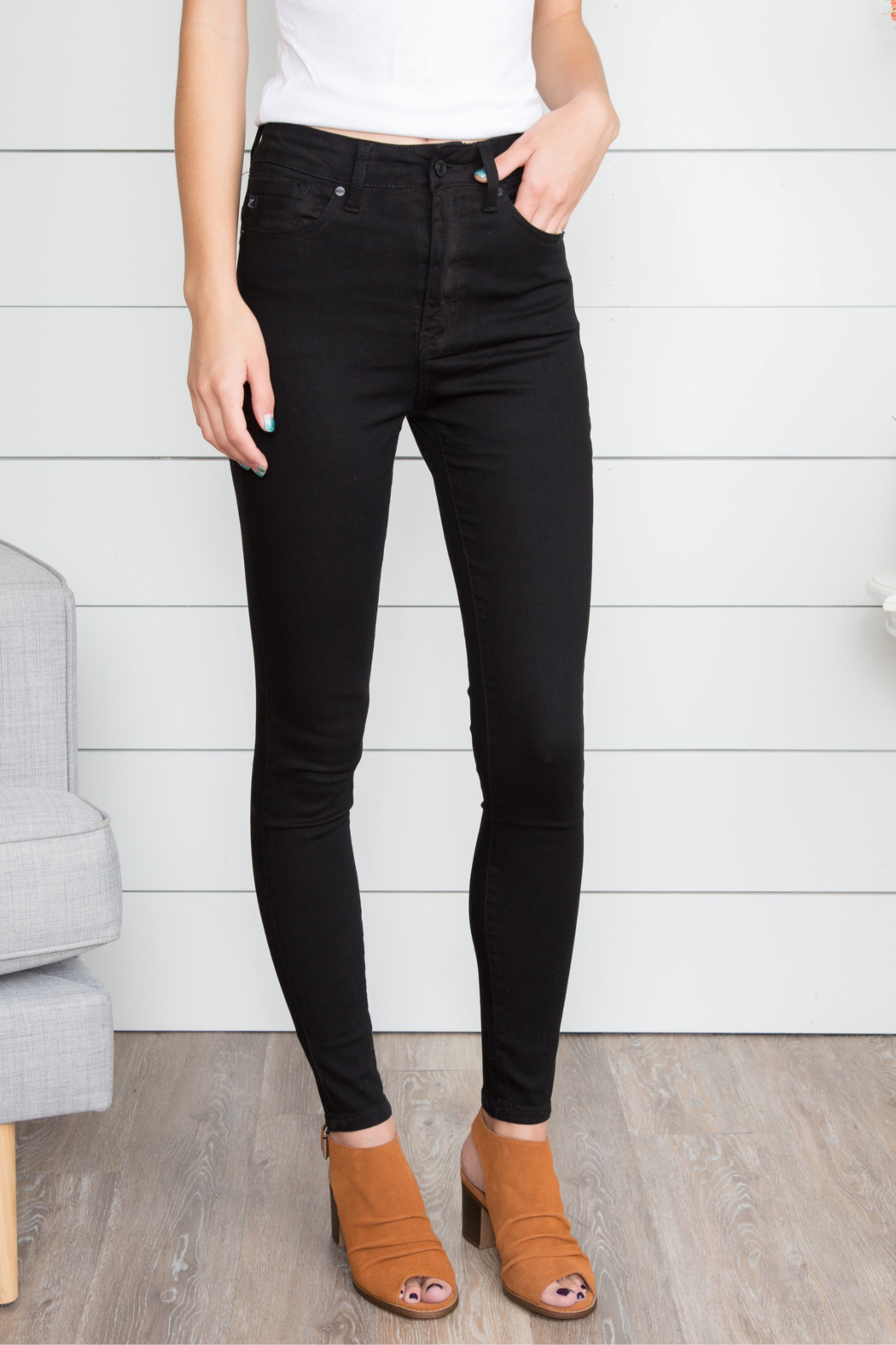 Hidden Jeans Taylor High Rise Skinny -BLK - Main Image