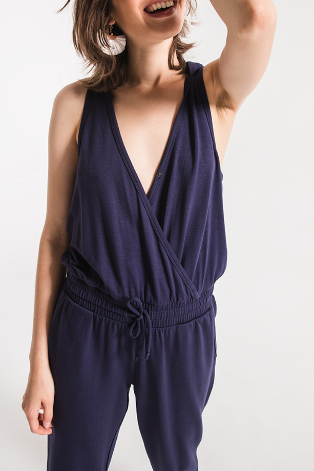 Others Follow  Taylor Hooded Jumpsuit - Side Cropped Image