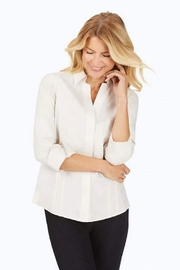 Foxcroft Taylor Non-Iron Pinpoint 3/4 Sleeve Shirt - Product Mini Image