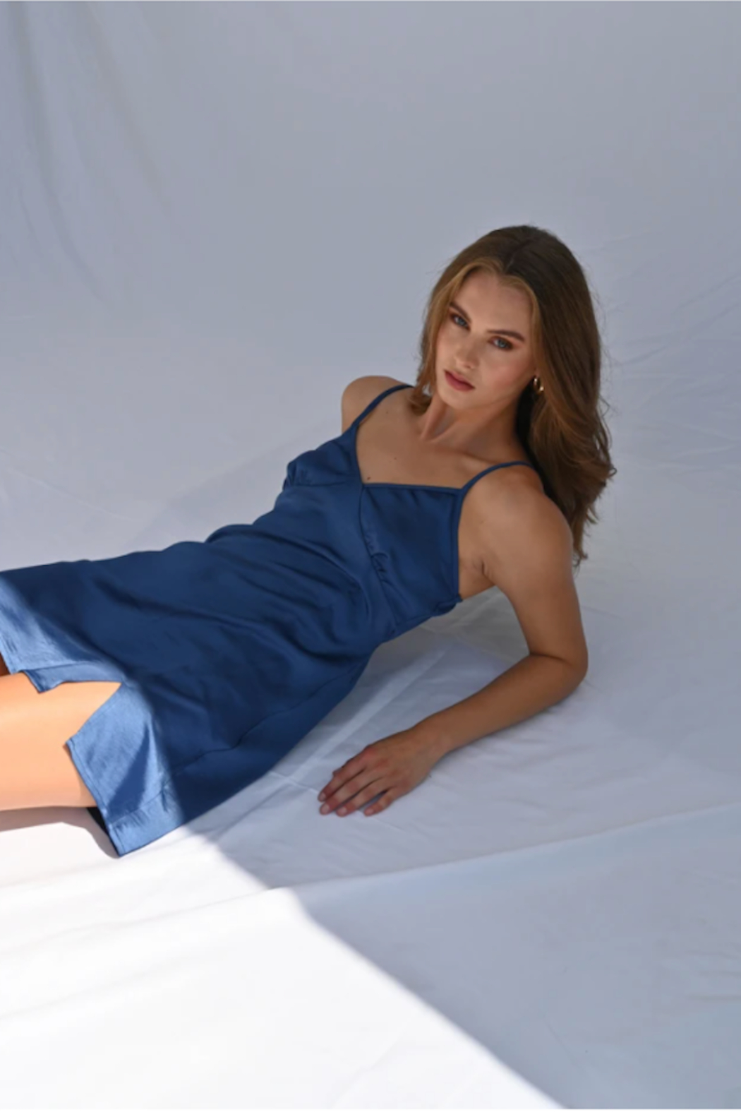 The NOW Taylor Satin Shift - Front Cropped Image