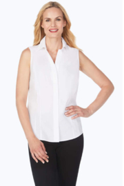 Foxcroft Taylor Stretch Sleeveless Top - Product Mini Image