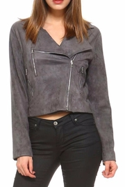 TCEC Charcoal Bomber Jacket - Front cropped