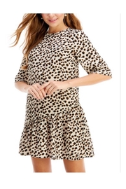 TCEC Cream Leopard Dress - Front cropped