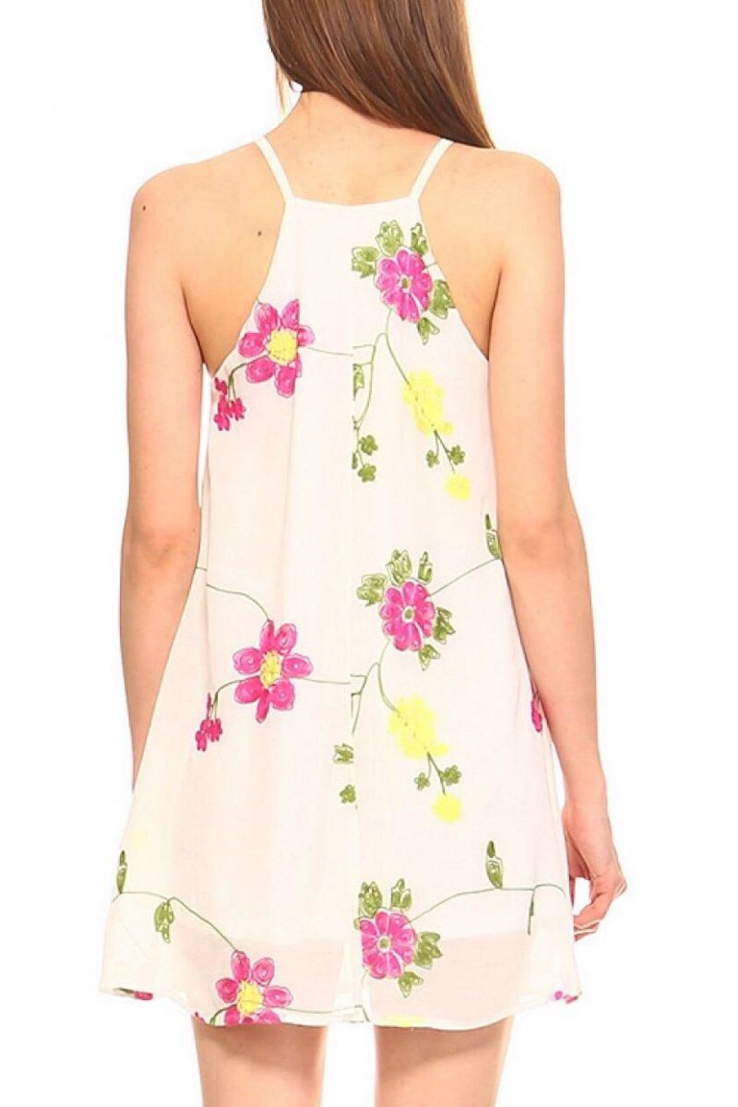 TCEC Embroidered Swing Dress - Front Full Image