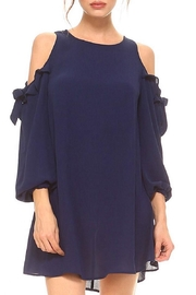 TCEC Navy Cold-Shoulder Dress - Front cropped