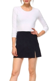 TCEC Navy Mini Skirt - Front cropped