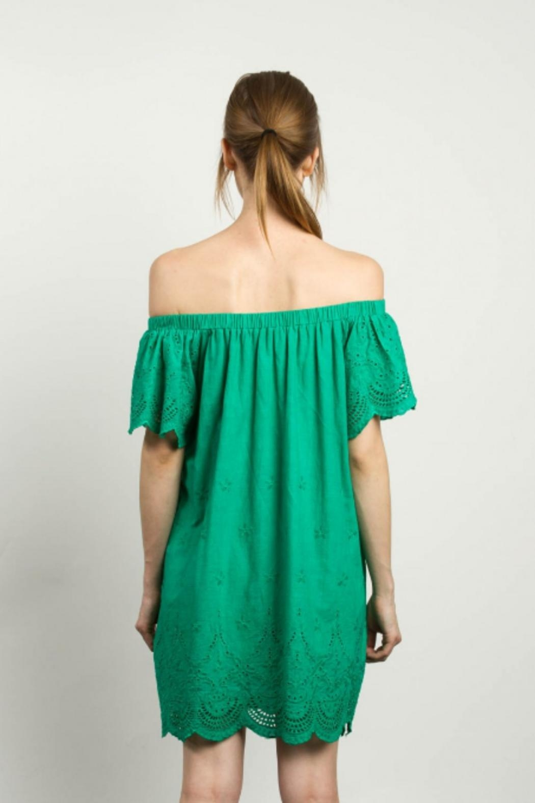 TCEC Off Shoulder Dress - Side Cropped Image