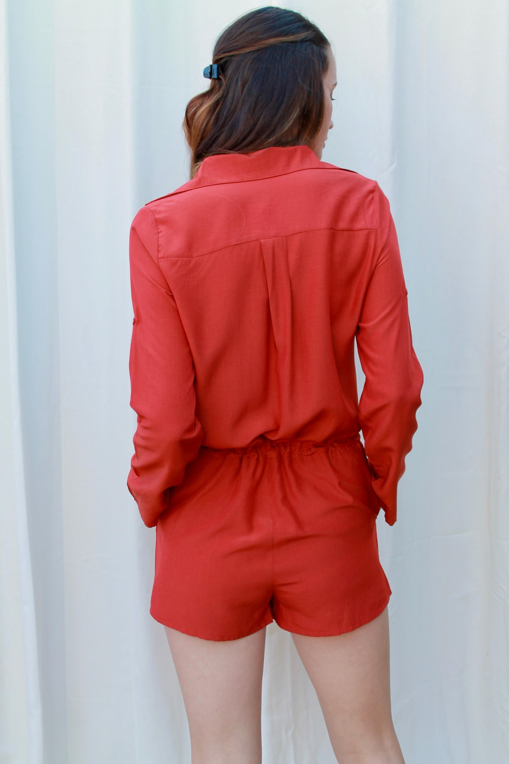 TCEC Pheonix Buttonup Romper - Front Full Image