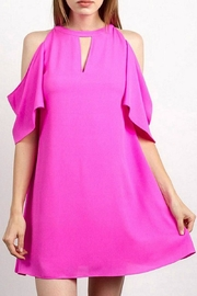 TCEC Pink Cold-Shoulder Dress - Product Mini Image