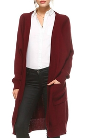 TCEC Ribbed Sweater Cardigan - Front cropped