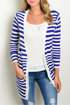 TCEC Royal Stripes Cardigan - Product List Image