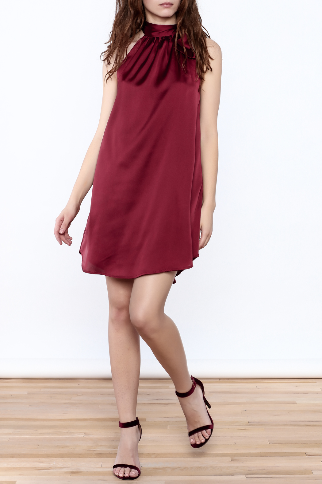 TCEC Satin Swing Dress - Front Full Image