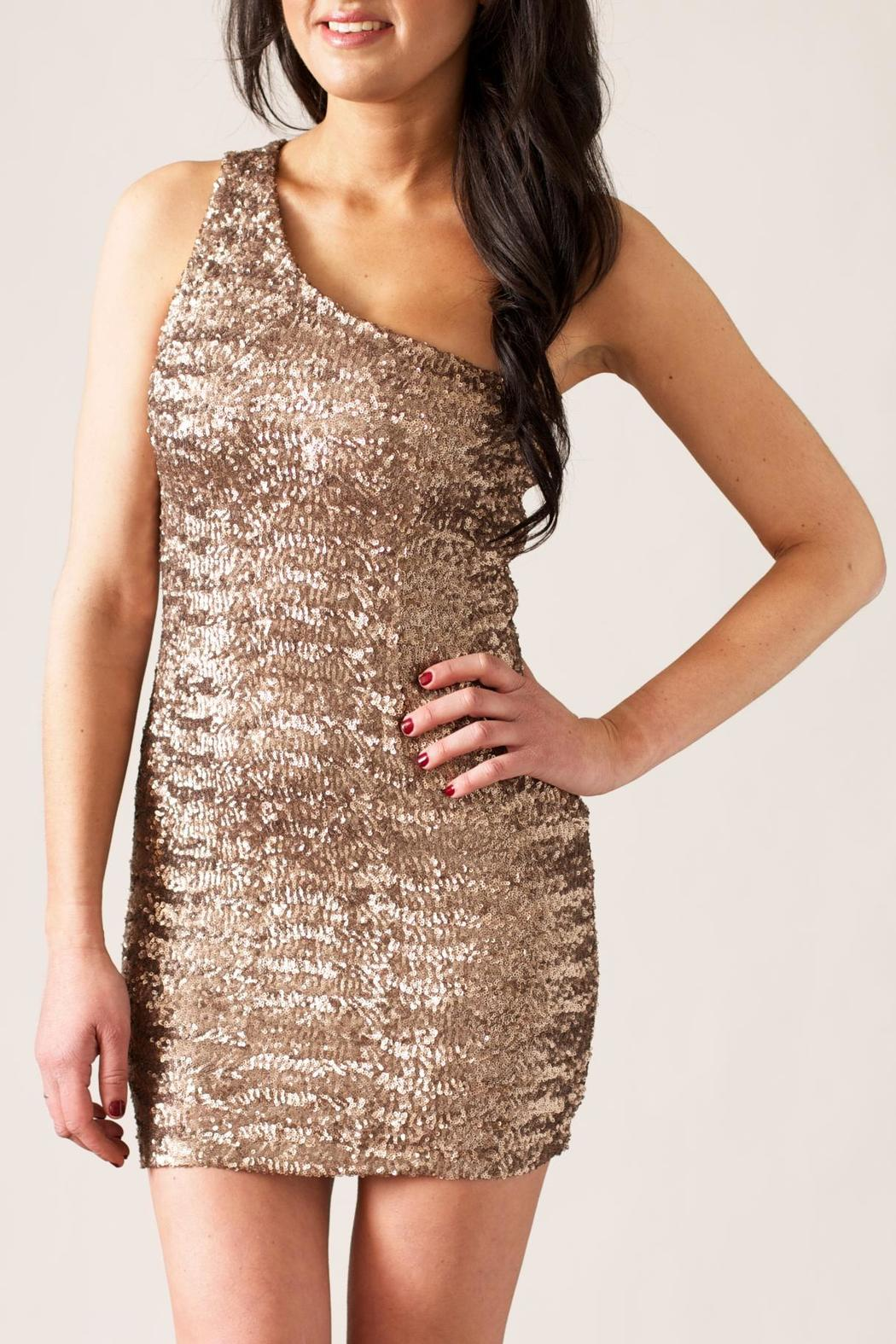 TCEC Sequin Mini Dress - Front Cropped Image