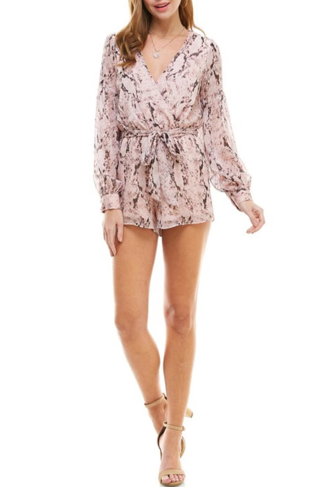 TCEC Snake Print Romper - Front Cropped Image