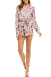 TCEC Snake Print Romper - Front cropped