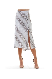 TCEC Snakeskin Silk Skirt - Front cropped