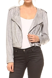 TCEC The Elle Moto-Jacket - Front cropped