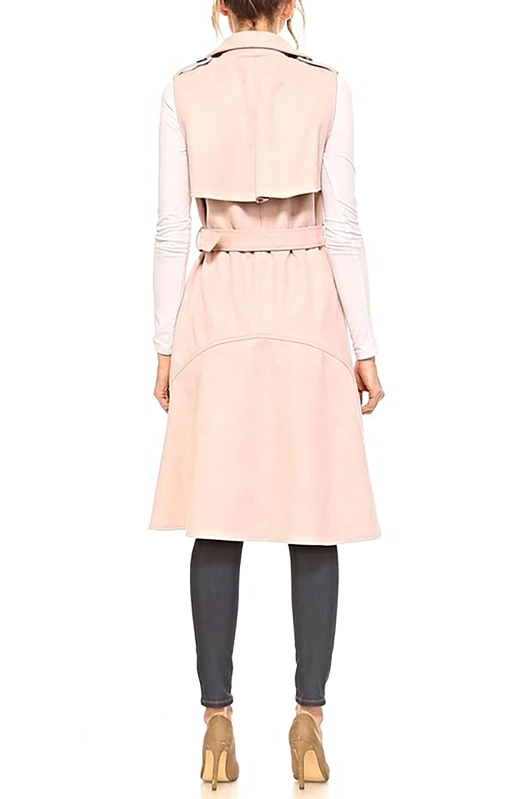 TCEC The Natalia Sleeveless-Trench - Side Cropped Image