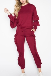 TDC Ruffle Jogger Set - Front cropped