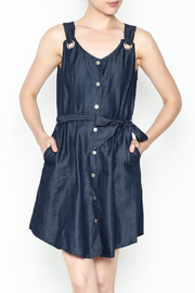 Tea & Cup Denim Button Dress - Product Mini Image
