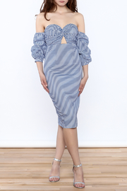 Tea & Cup Stripe Midi Dress - Product Mini Image