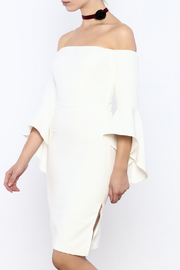 Shoptiques Product: White Off Shoulder Dress