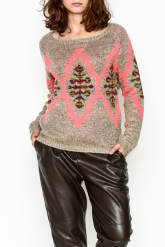 Tea n Rose Aztec Neon Sweater - Product List Image