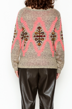 Tea n Rose Aztec Neon Sweater - Alternate List Image