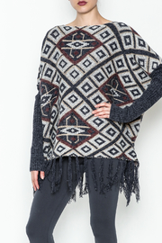 Tea n Rose Aztec Poncho Sweater - Product Mini Image