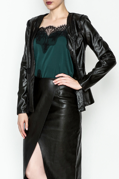 Tea n Rose Black Leather Jacket - Product List Image